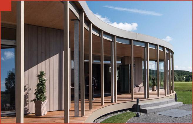 Cbag Architekten clubhouse projetos de telhados planos alwitra